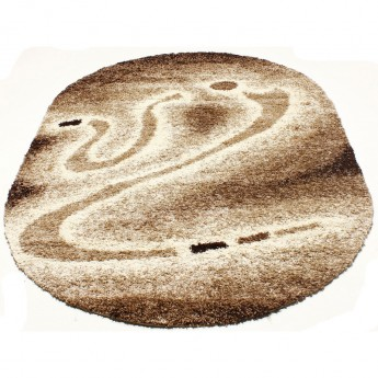 Овальный Ковер MAJESTY 2640A коричневый