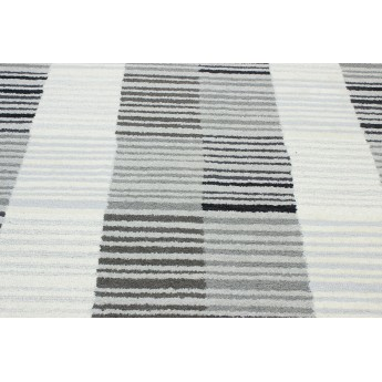 PANACHE Block Stripe Rug 1 Ivory/Gray №1