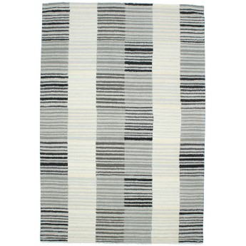 PANACHE Block Stripe Rug 1 Ivory/Gray №3