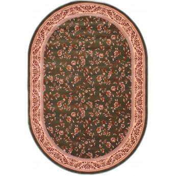 Овальный зеленый Ковер высокой плотности  IMPERIA 5816A