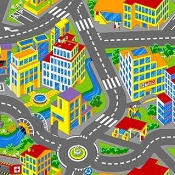 Детский ковролин SMART CITY 1 - фото №1